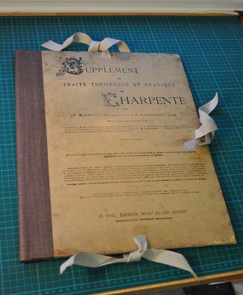 Carton à dessin pour Traité de charpente
